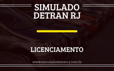 Simulado Detran RJ – Licenciamento anual
