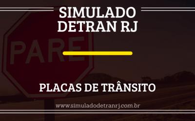Simulado Detran RJ – Placas de Trânsito